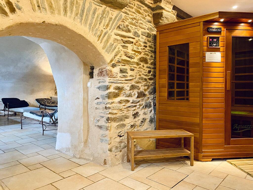 Le Sauna de l'espace bien-être